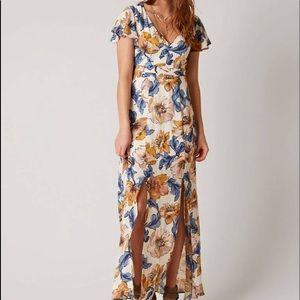 Daytrip Floral Cutout Maxi Dress